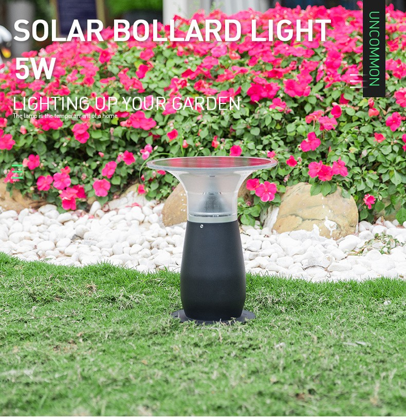 IP55 Waterproof Aluminum Wireless Outdoor Solar Bollard Light-9
