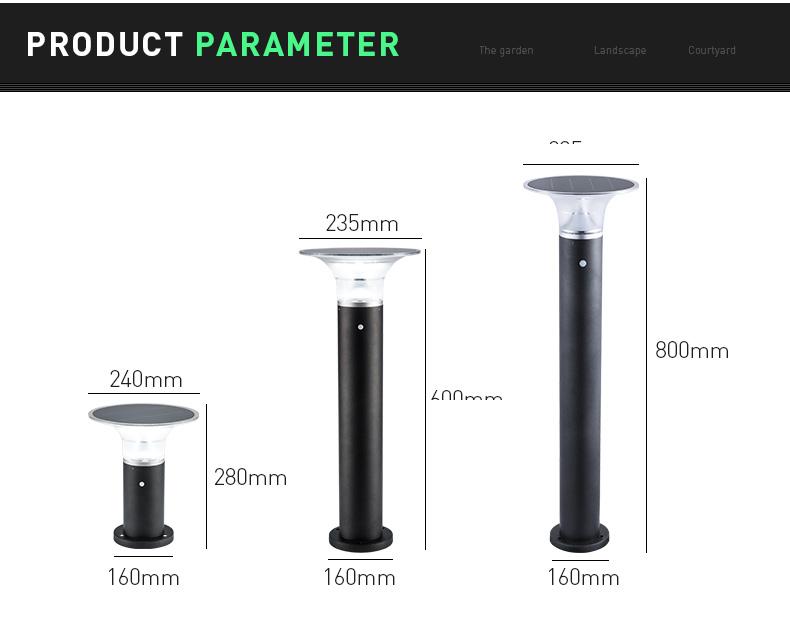 Pat Hei Gate Hardware-Ip55 Waterproof Hourglass Outdoor Solar Led Lawn Light-pat Hei Gate Hardware