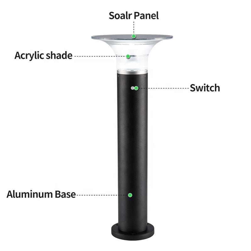 Pat Hei Gate Hardware-Ip55 Waterproof Hourglass Outdoor Solar Led Lawn Light-pat Hei Gate Hardware-1