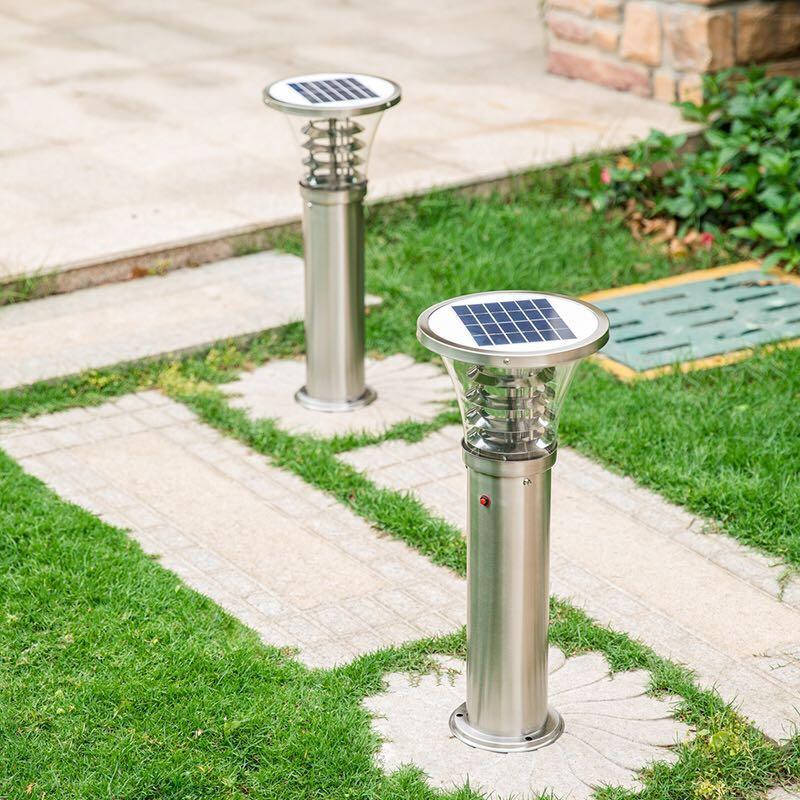 Stainless Steel IP55 Waterproof Outdoor Solar LED Lawn Light