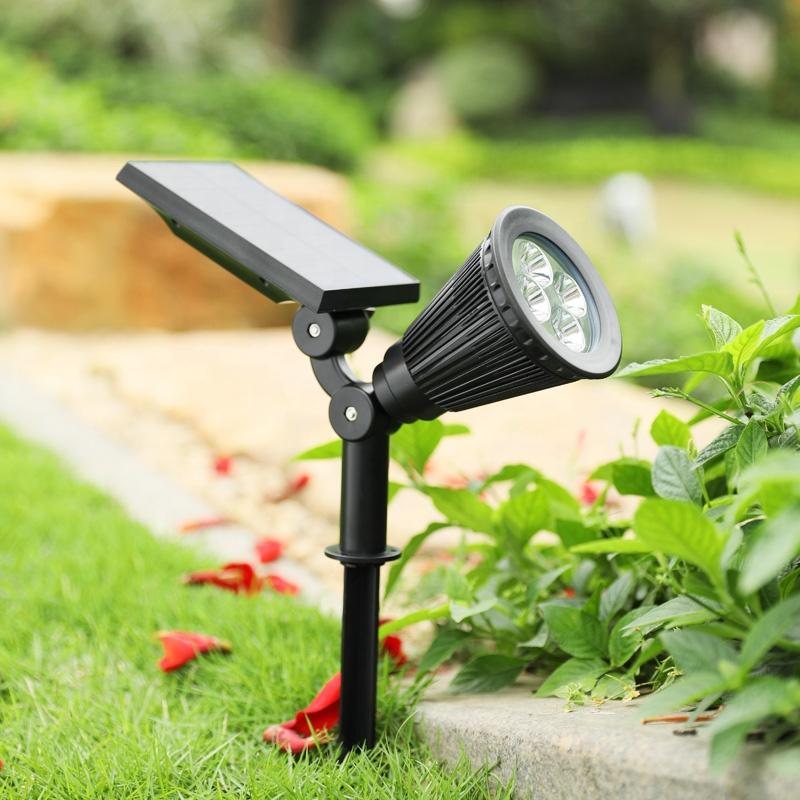 Black ABS+PC Multiple Modes Solar Spot Light