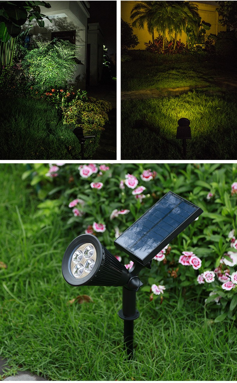 Pat Hei Gate Hardware-Black Abs+pc Multiple Modes Solar Spot Light-pat Hei Gate Hardware-3