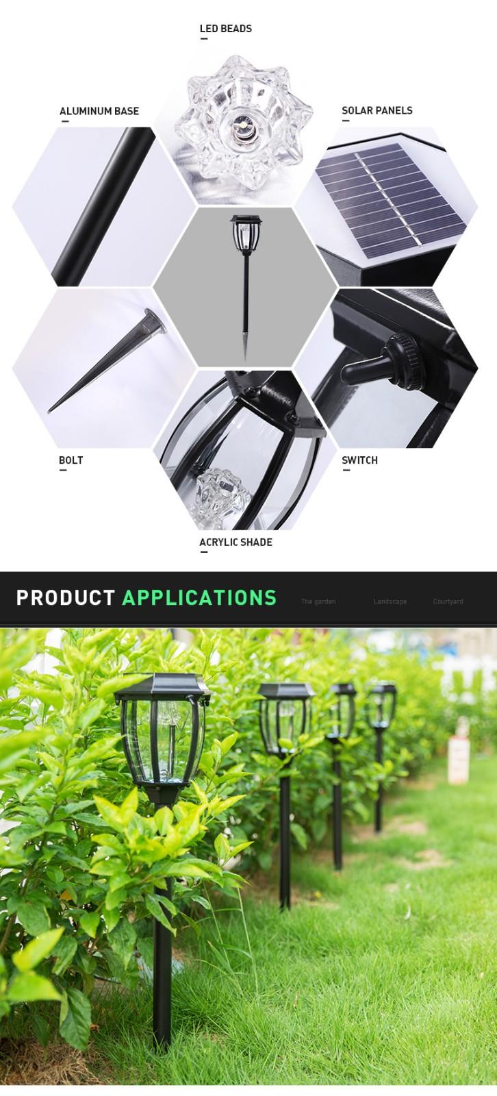 Pat Hei Gate Hardware-Aluminum Ip55 Waterproof Solar Led Garden Light-pat Hei Gate Hardware-2