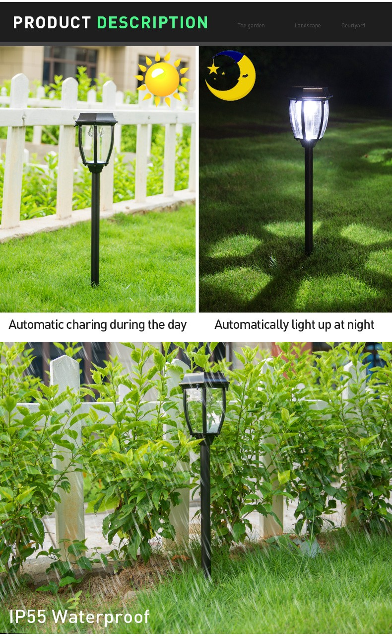 Pat Hei Gate Hardware-Aluminum Ip55 Waterproof Solar Led Garden Light-pat Hei Gate Hardware-3