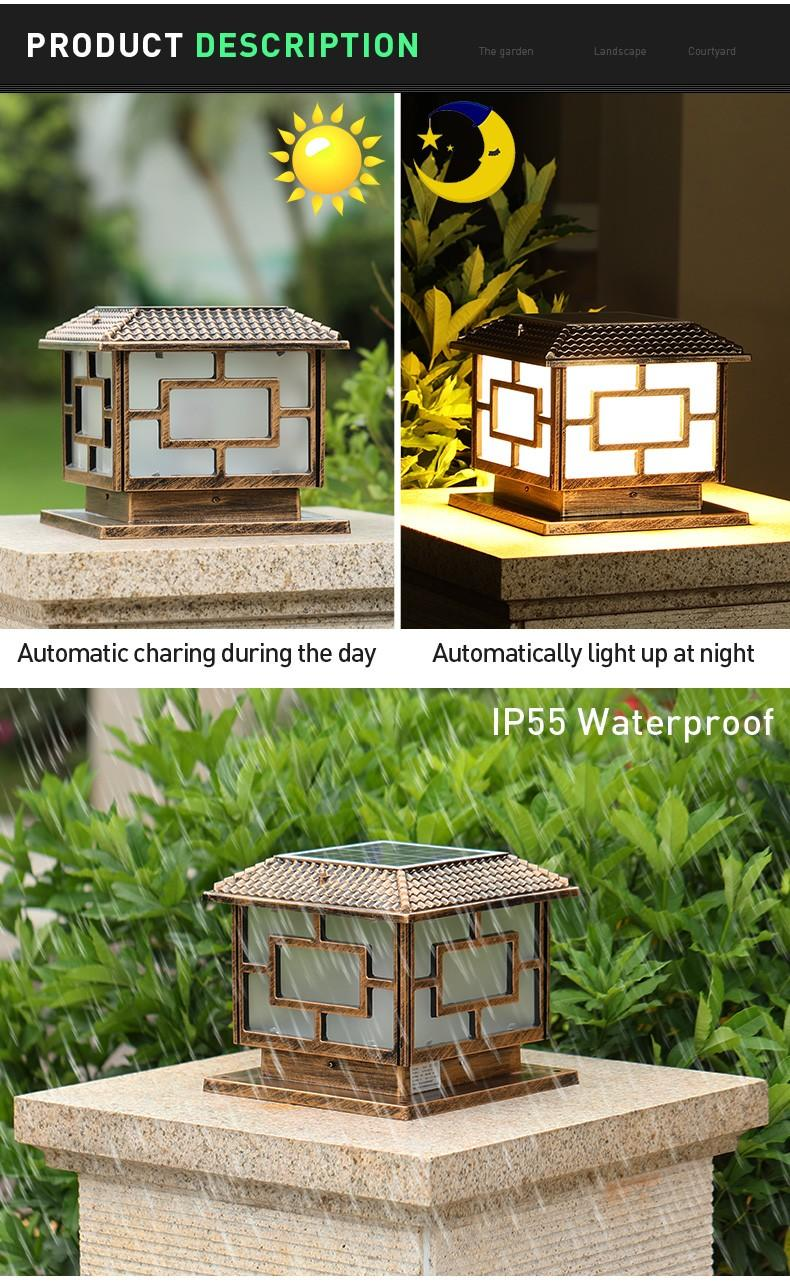 most popular solar rock lights small factory for door
