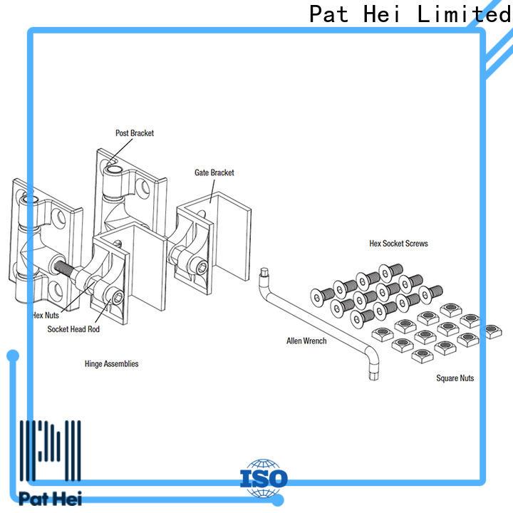 Pat Hei Gate Hardware enhanced durability aluminum gate hinges bulk purchase for sale