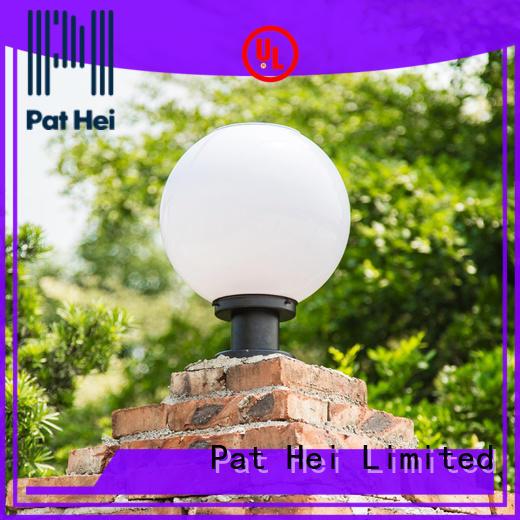 Pat Hei Gate Hardware waterproof solar pillar lights outdoor awarded supplier for garden