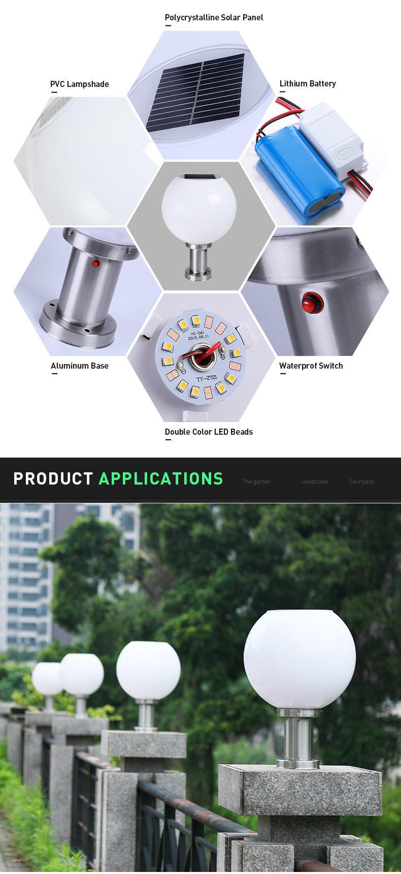 new design Solar Pillar Light dustproof awarded supplier for sale-3