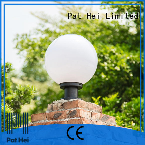 Pat Hei Gate Hardware classic solar gate pillar lights exporter for yard