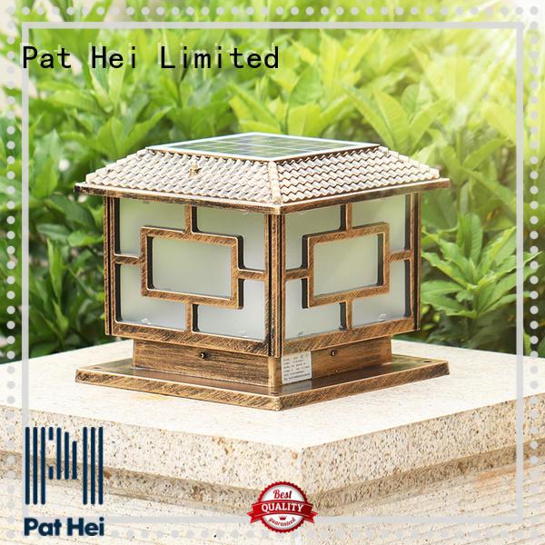 Pat Hei Gate Hardware dustproof garden pillar lights exporter for garden
