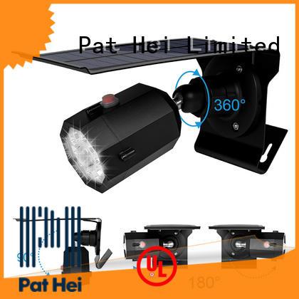 Pat Hei Gate Hardware low MOQ solar powered sensor light trader for courtyard