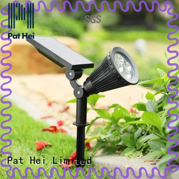 Pat Hei Gate Hardware easy to install solar powered lawn lights with silicone cover for dealer